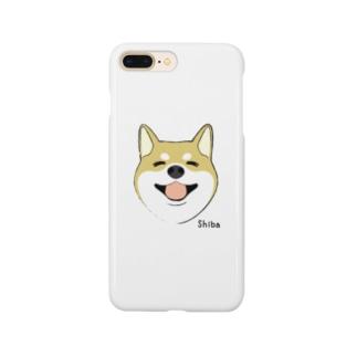 ほほえみ柴犬 スマートフォンケース(茶柴) Smartphone cases