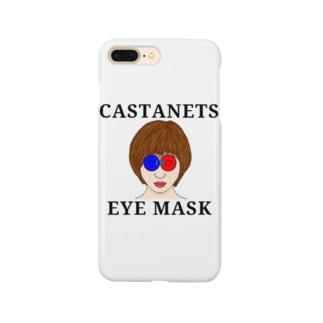 カスタネットでアイマスク Smartphone cases