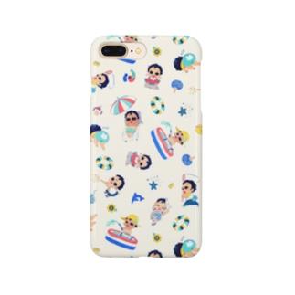 ぼくちんの夏休み_スマホケース Smartphone cases