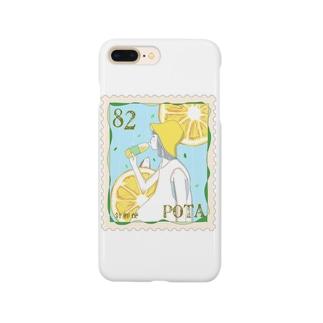 レモン切手 Smartphone cases