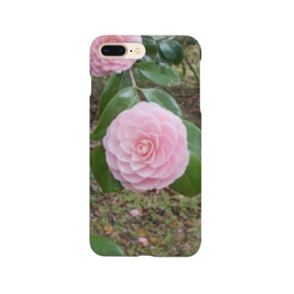 Pale pink camelia blooming カメリア Smartphone cases