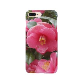 Pink camelia blooming カメリア Smartphone cases