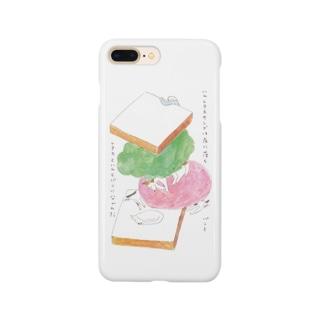 ハムレタスサンドは床に落ちパンとレタスとハムとパンに分かれた ver.2 Smartphone cases