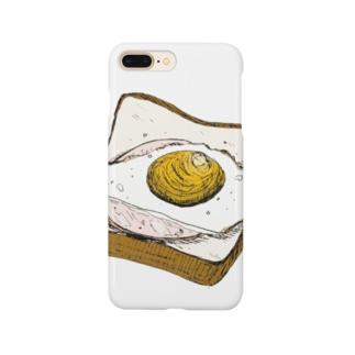 ハムエッグのせ Smartphone cases