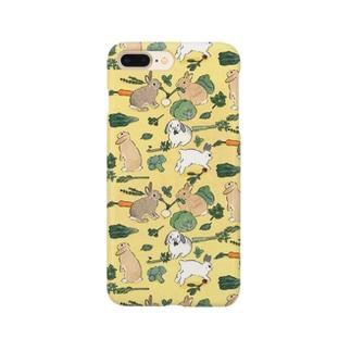 お野菜大好きうさぎさん Smartphone cases