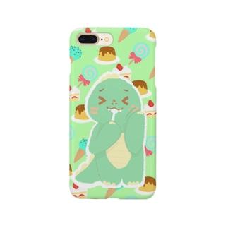 かいじゅう。(「 `・ω・)「 ガオー3(グリーン) Smartphone cases
