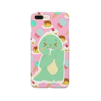 かいじゅう。(「 `・ω・)「 ガオー3(ピンク) Smartphone cases
