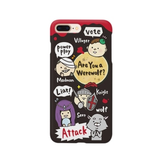 ゆるかわ人狼くん疑心暗鬼ブラック Smartphone cases