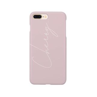 《名入れ可》くすみcolor  Cherry  by ppp.. Smartphone cases