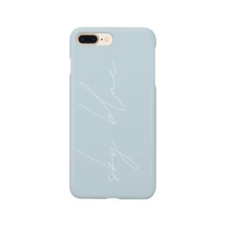 《名入れ可》くすみcolor  Sky blue  by ppp.. Smartphone cases