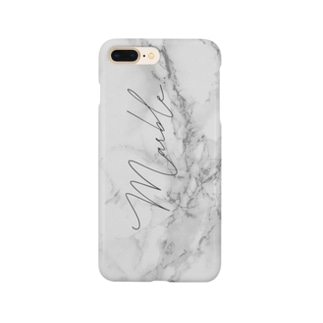 《名入れ可》くすみcolor  marble  by ppp.. Smartphone cases