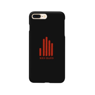 REDHANDロゴ(文字あり) Smartphone cases