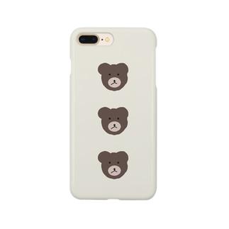 整列くまちゃん Smartphone cases
