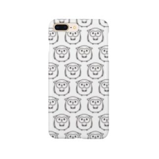 幸せのフクロウ模様 Smartphone cases