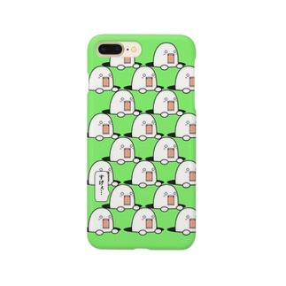 穴から出過ぎてるやつ(green) Smartphone cases