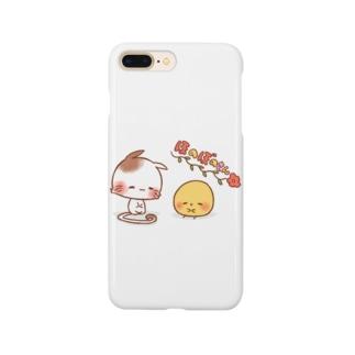 ほのぼのねこさんとぴよみさん Smartphone cases