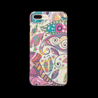 Matsuyaのインド柄1 Smartphone cases