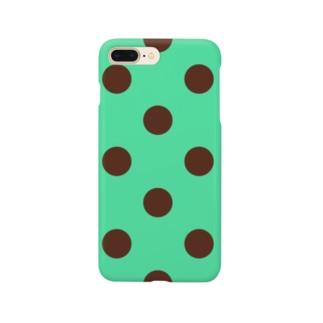 チョコミント水玉 Smartphone cases