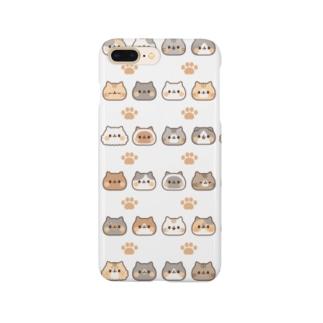 ネコがいっぱい 大量ver. Smartphone cases