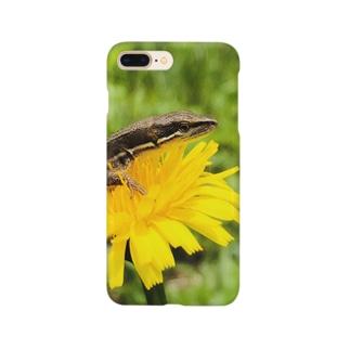 タンポポとカナヘビくん Smartphone cases