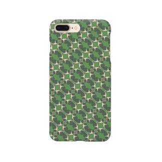 モルモット柄緑 Smartphone cases