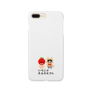 いちごとまるがおさんロゴ Smartphone cases