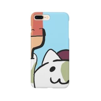 ひまらつ@お絵かきアプリ作ってますのべれニャン(お絵かきコラボ) Smartphone cases
