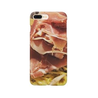 生ハムのクリームパスタ Smartphone cases
