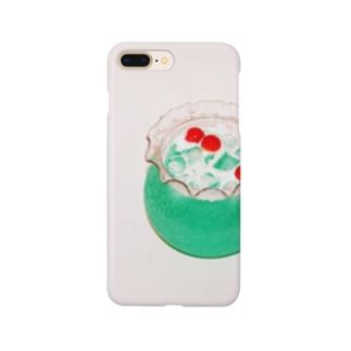 金魚鉢(クリームソーダ) Smartphone cases