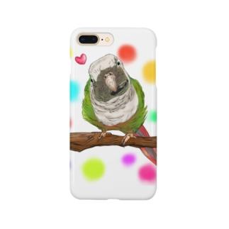 ホオミドリアカオウロコインコ フルカラー② Smartphone cases
