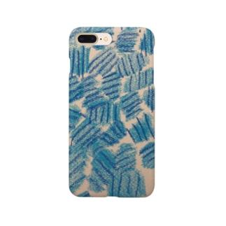ブルーおはじき Smartphone cases