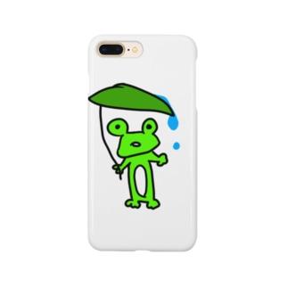 梅雨明けのかえる Smartphone cases