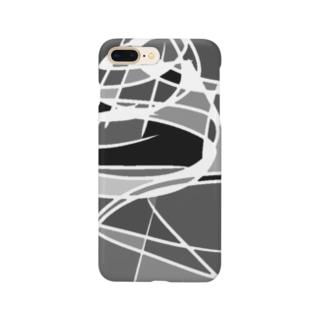 カオス理論(モノクロームver.) Smartphone cases