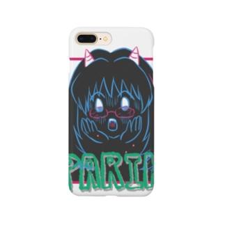 Oni子ちゃんメガネショック黒 Smartphone cases