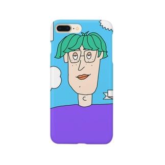 メガネの奥の瞳に乾杯 Smartphone cases