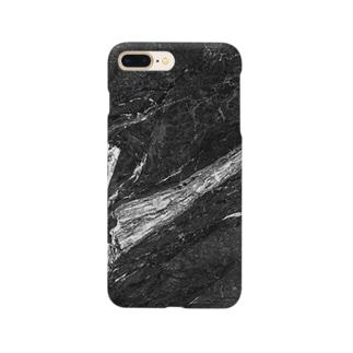 白黒マーブル Smartphone cases