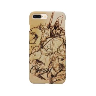 エンブレムラフ画iPhoneケース Smartphone cases