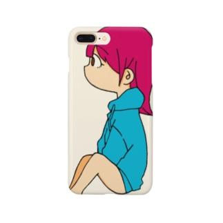 よこむきピンク Smartphone cases