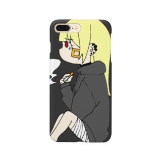 よこむきタバコ Smartphone cases