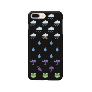 ☔ 絵文字 あめあめふれふれ 🐸 Smartphone cases