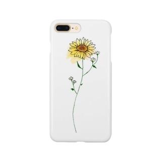 ひまわりとかすみ草 Smartphone cases