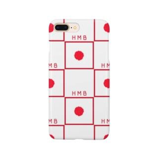 日の丸弁当市松 Smartphone cases