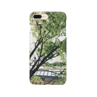 落ち着く緑~都会編~ Smartphone cases
