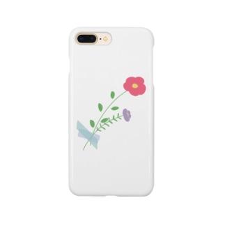 お花を身につけて Smartphone cases