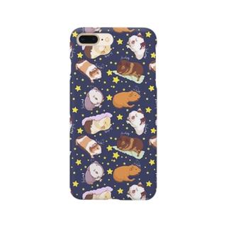 眠いモルモット大集合01 Smartphone cases