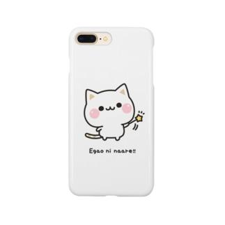 気づかいのできるネコ 笑顔になぁれver. Smartphone cases