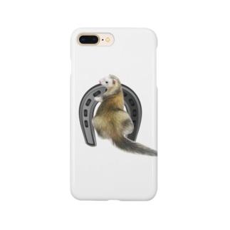馬蹄と フェレット Smartphone cases