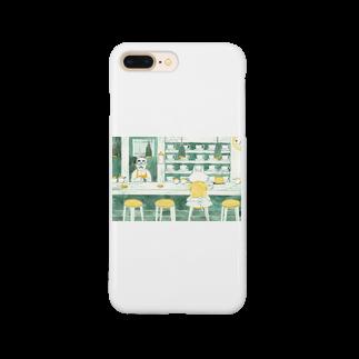 BENIBARAのひとねこ「喫茶ねこ」 Smartphone cases