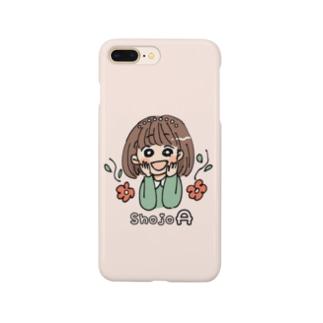 少女A(ローマ字入り) Smartphone cases