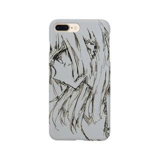 ヨコ顔イラスト Smartphone cases